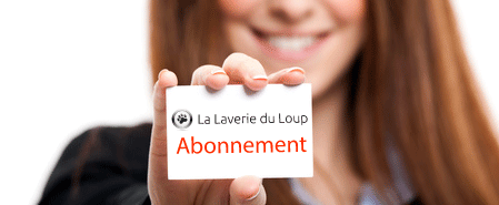 Carte d'abonnement à la laverie